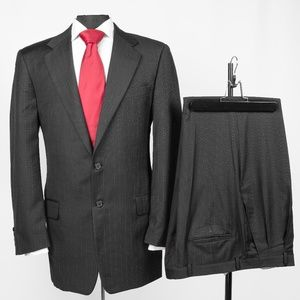 Hickey Freeman Collection Striped 2 Pc Suit #8B9